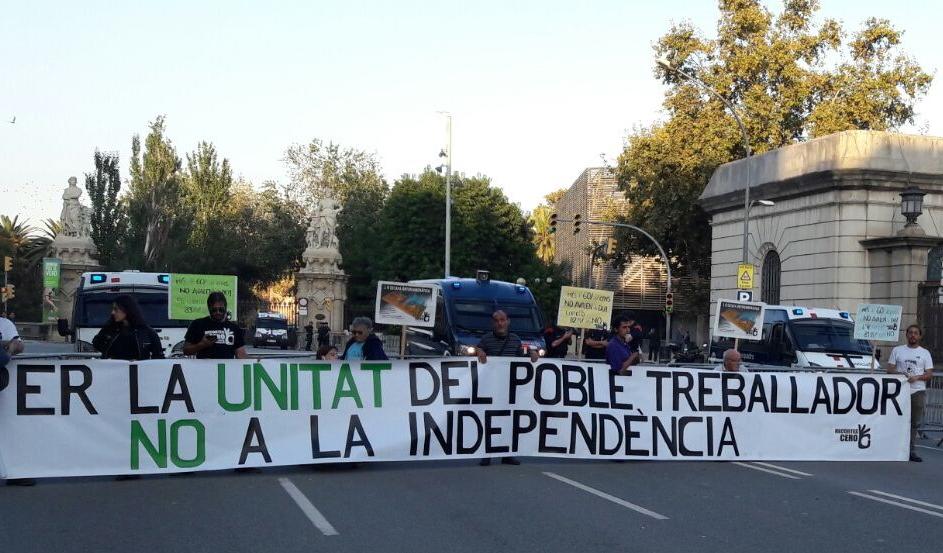 JORNADA DE PROTESTA FRENTE AL PARLAMENT CONTRA LA DUI (27/10/17)